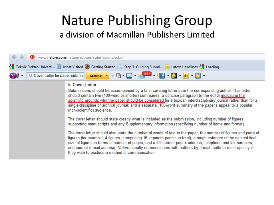 nature cover letter example cover letter to nature example process 23754 | Nature%20Publishing%20Group%20a%20division%20of%20Macmillan%20Publishers%20Limited