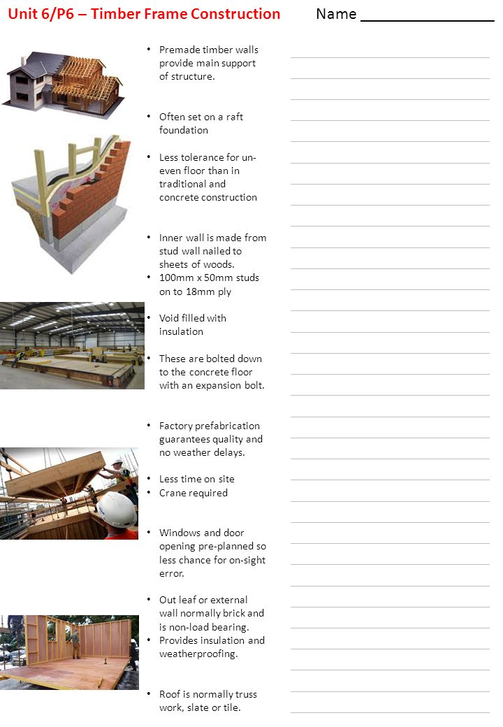 Unit 6/P6 – Timber Frame Construction Name - ppt download