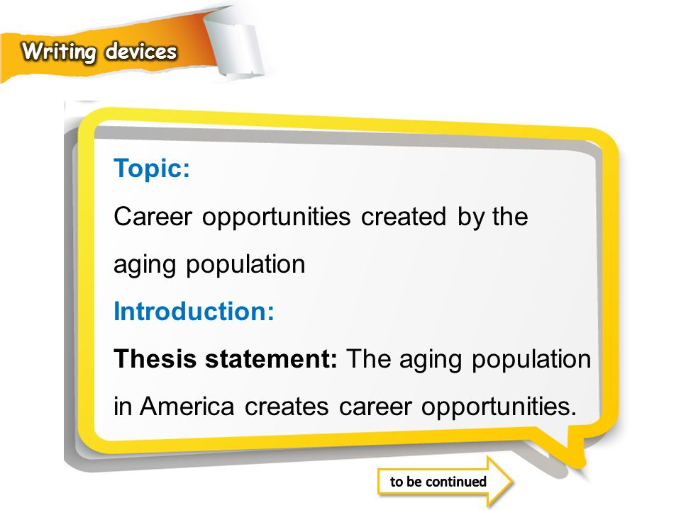 Career opportunities created by the aging population