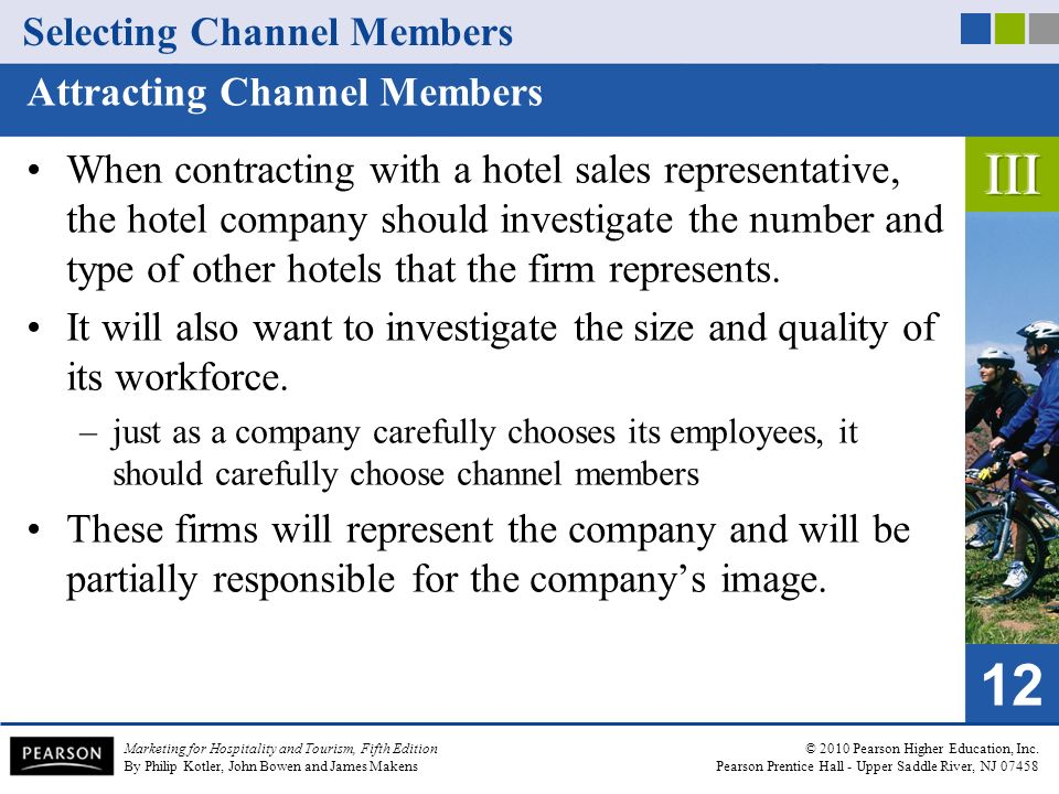 selecting channel members marketing