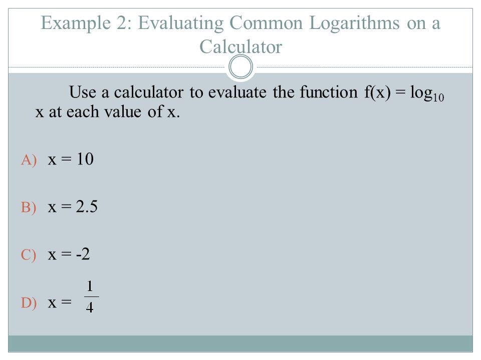 Logarithmic Functions & Their Graphs - ppt download