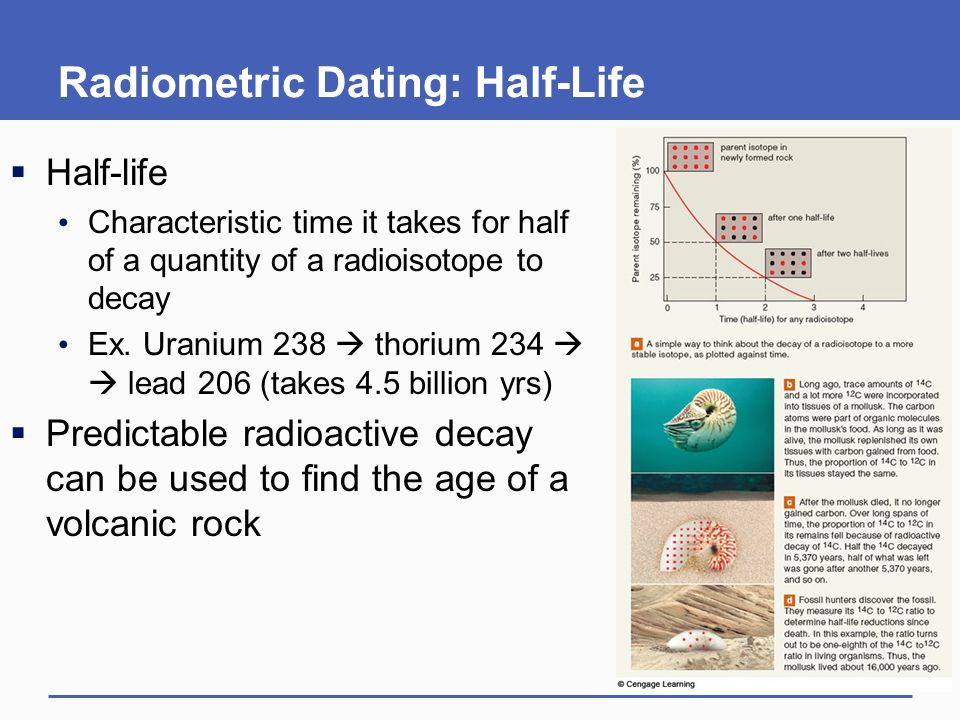 Radioactive dating characteristics