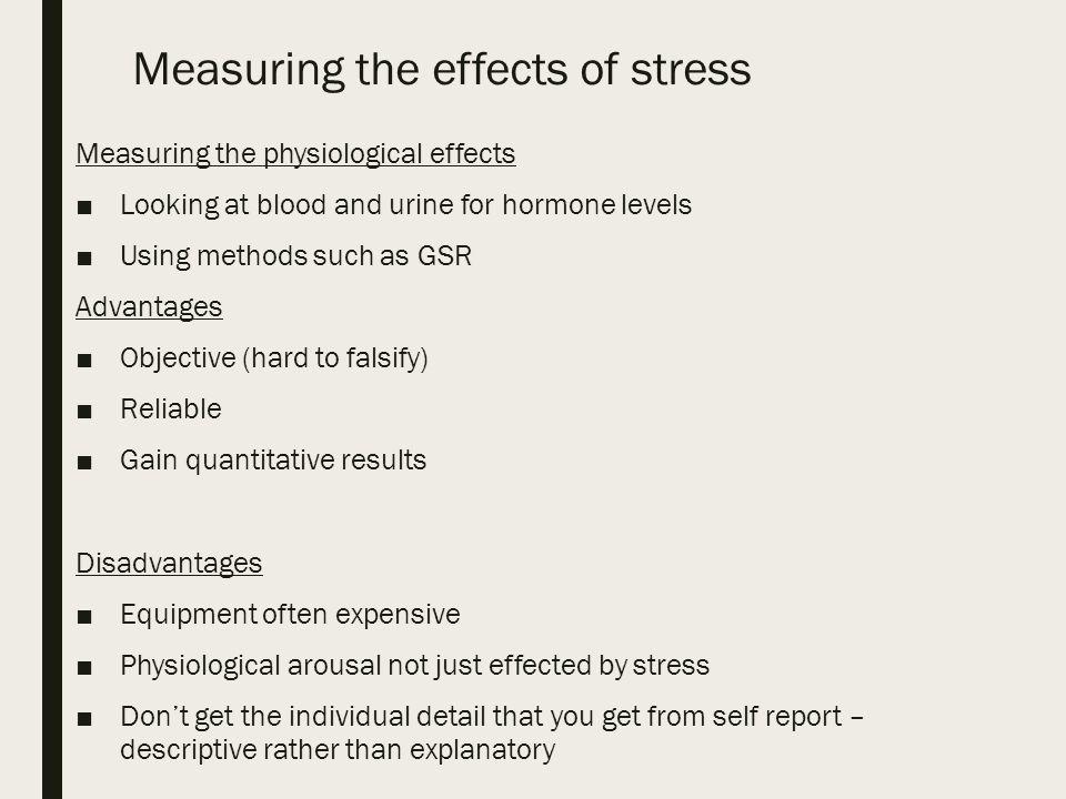 methods of measuring stress