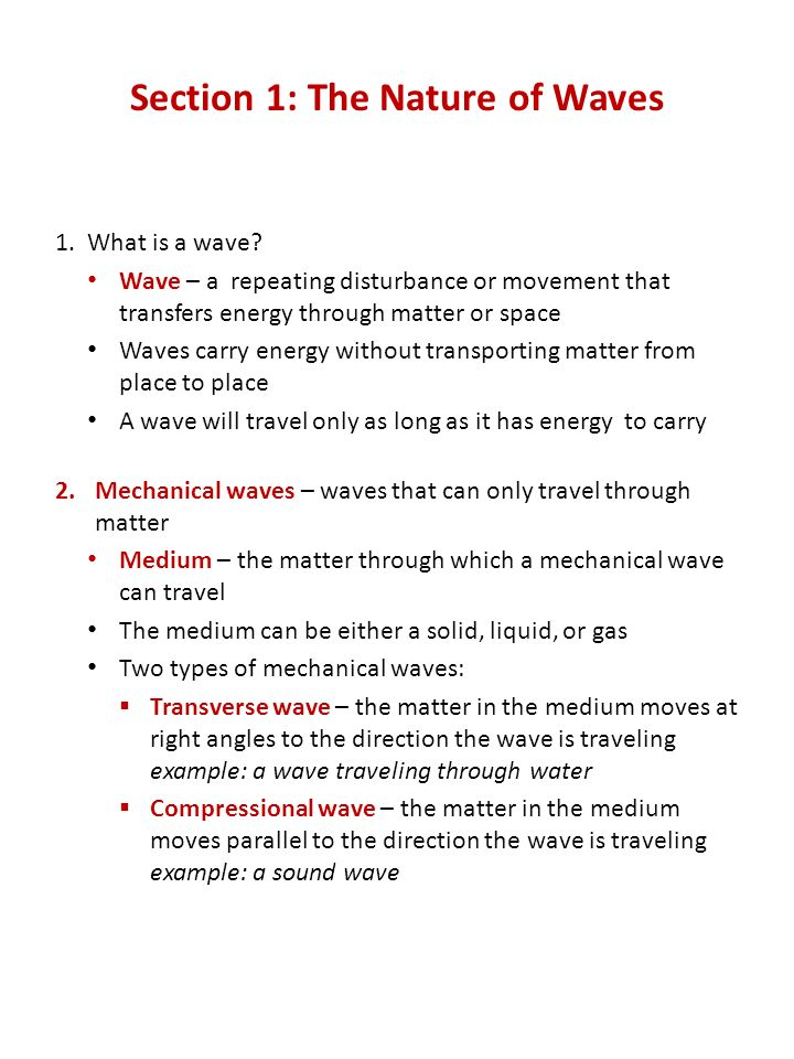 Section 1 The Nature Of Waves: The Nature Of Waves Worksheet Answers At Alzheimers-prions.com