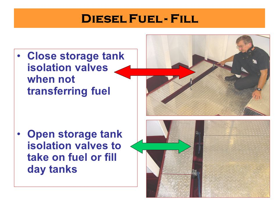 Diesel Fuel - Fill Place all spill safety equipment where