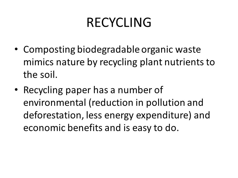 Waste and Recycling Notes Waste Disposal - ppt video online