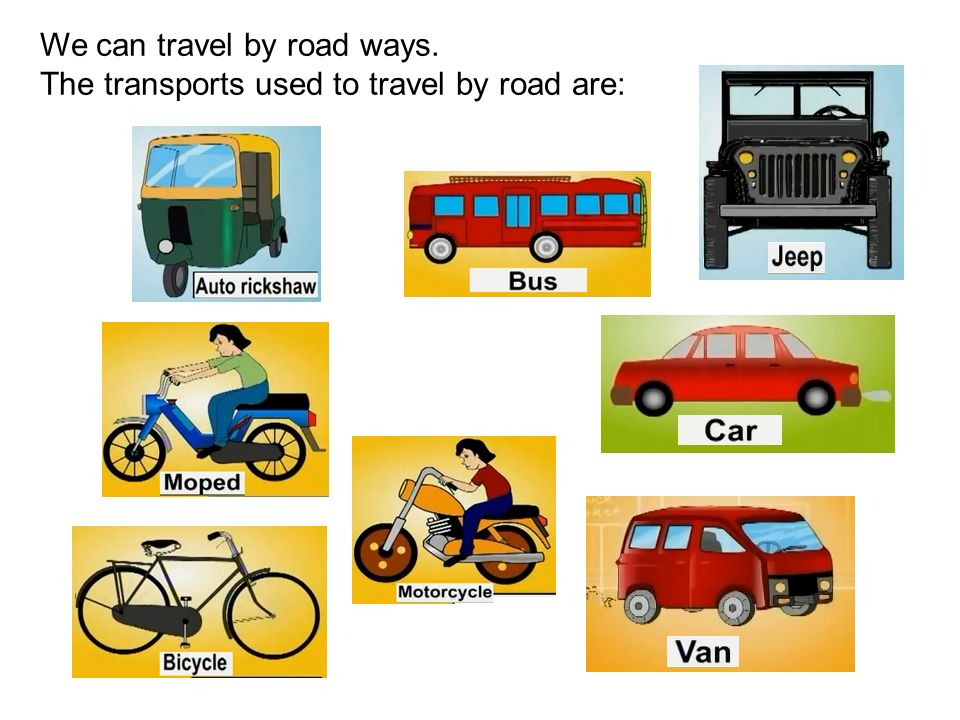 means of transport kids cartoon animation ppt download