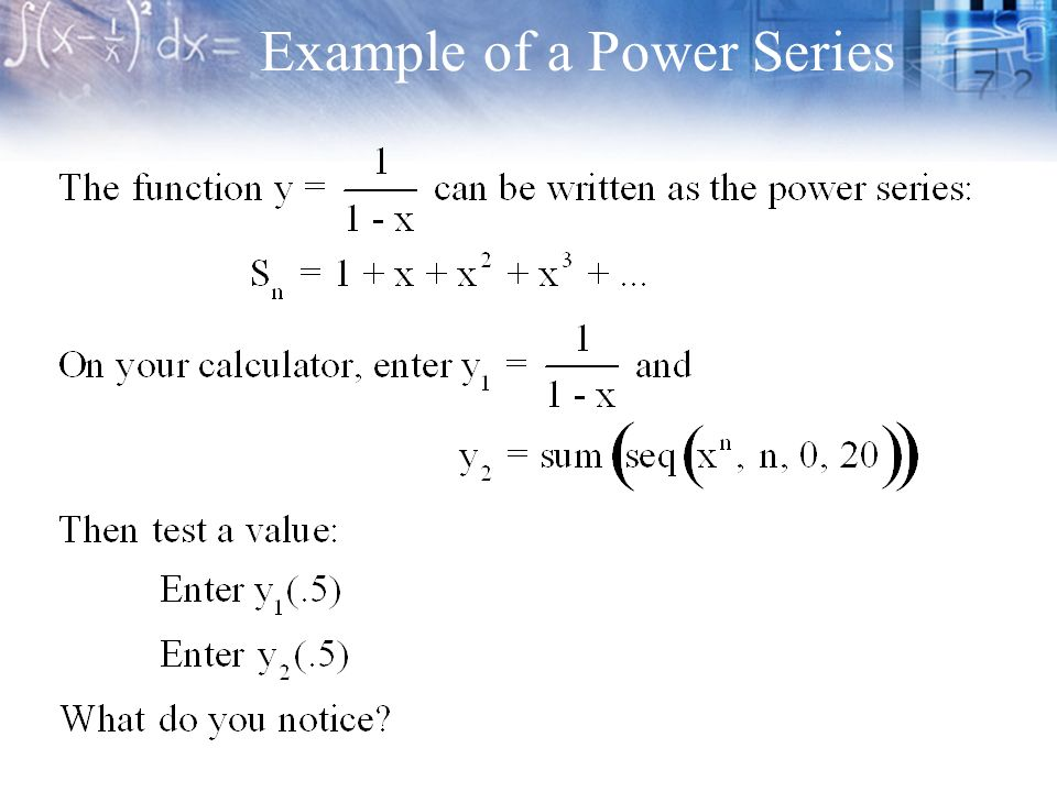 9 1 Power Series  - ppt download