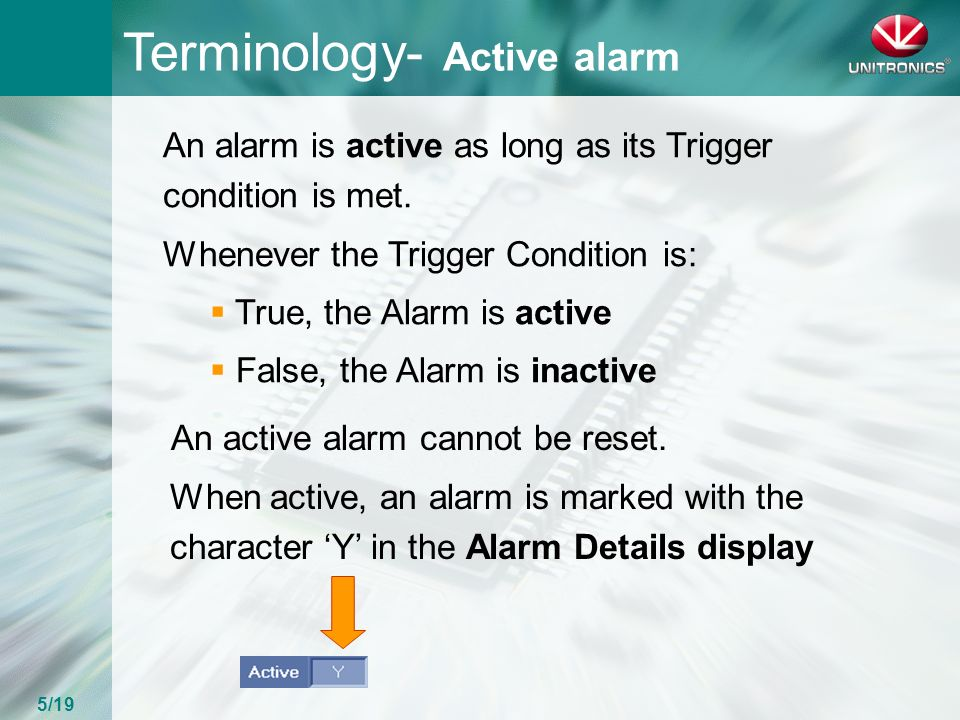 UNITRONICS Alarm Task Welcome and thank you for joining our