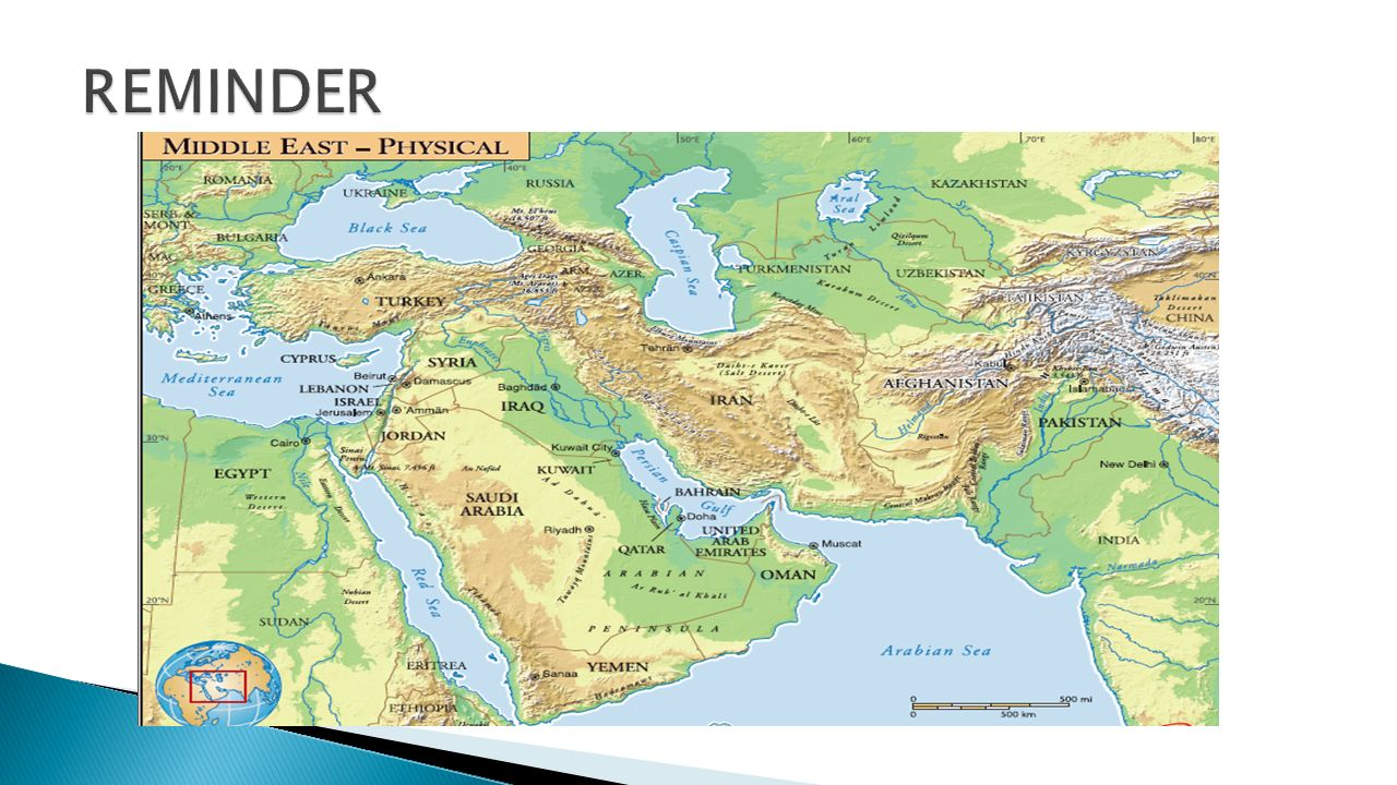 Physical Features of the Middle East - ppt video online download