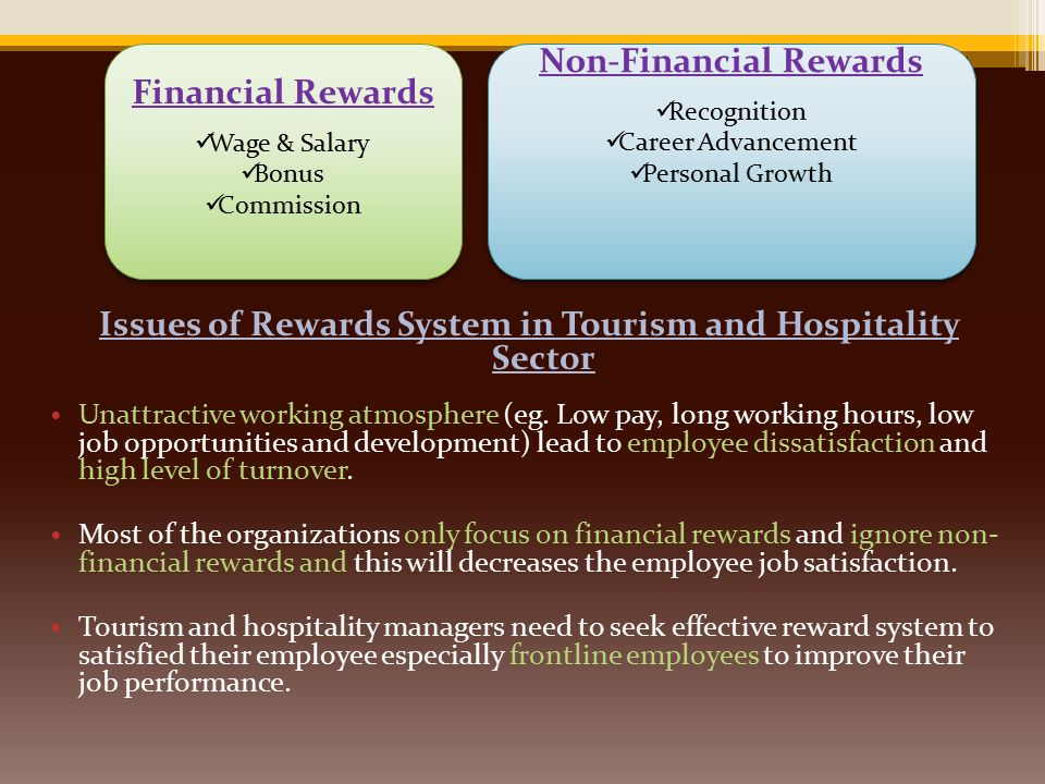 Effective Rewards System in Tourism and Hospitality Sector