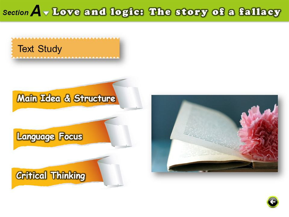 A Love and logic: The story of a fallacy Text Study