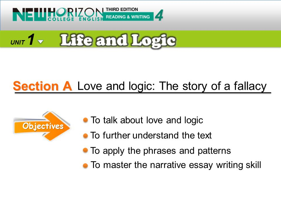 Section A Life and Logic 4 1 Love and logic: The story of a fallacy
