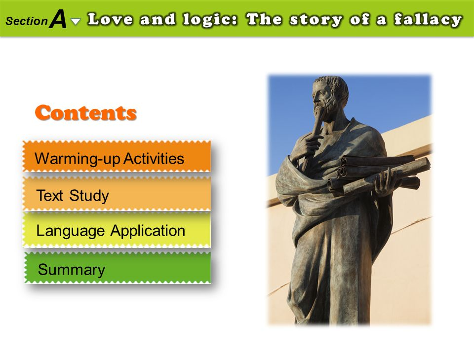 A Contents Love and logic: The story of a fallacy