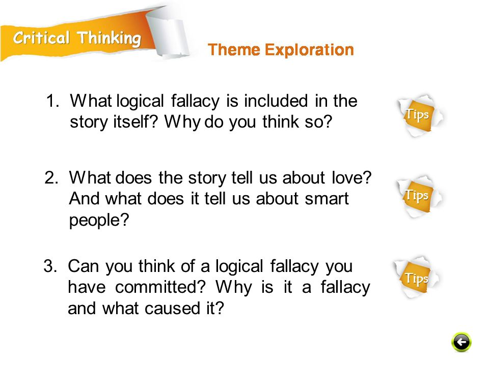 3. Can you think of a logical fallacy you