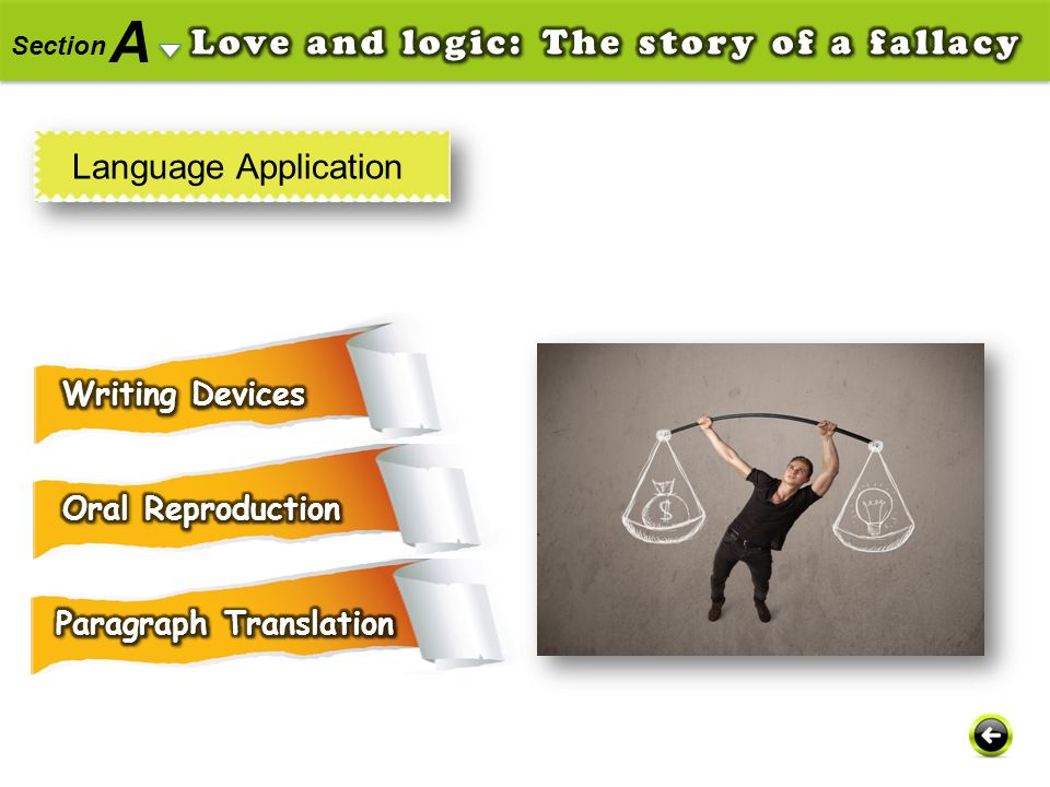 A Love and logic: The story of a fallacy Language Application