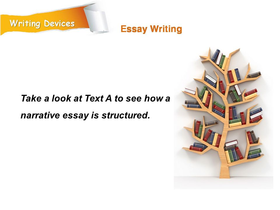 Take a look at Text A to see how a narrative essay is structured.