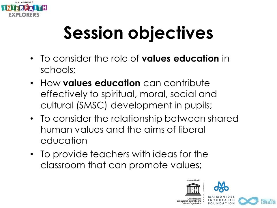 The role of 'values education' in schools & community