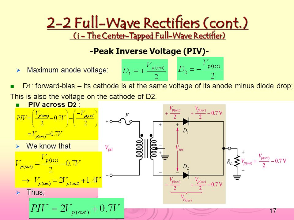 CHAPTER 2 Diode Applications - ppt download