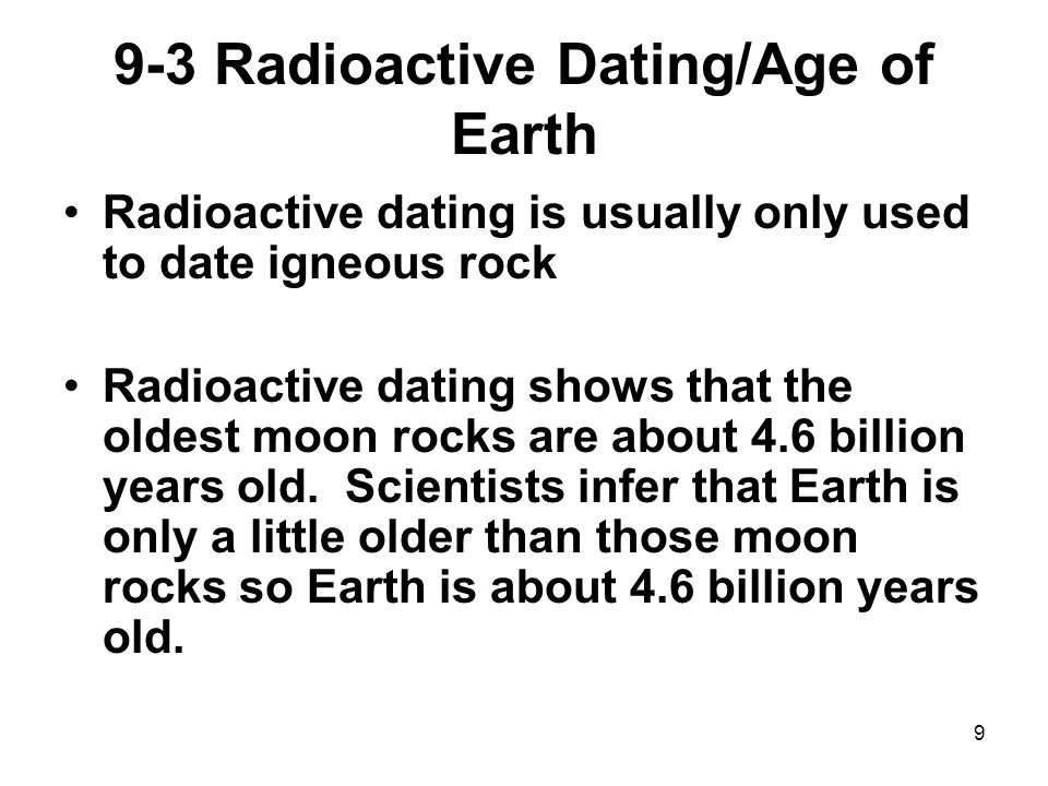 Radioactive dating moon rocks