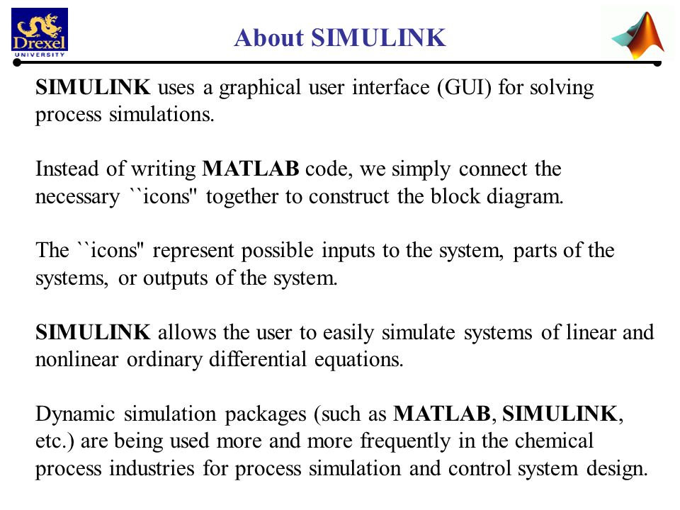 SIMULINK-Tutorial 1 Class ECES-304 Presented by : Shubham Bhat