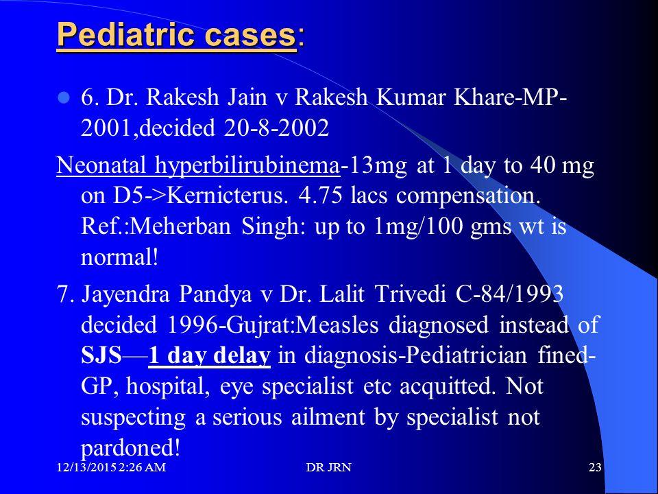 Pediatrician & MEDICAL NEGLIGENCE