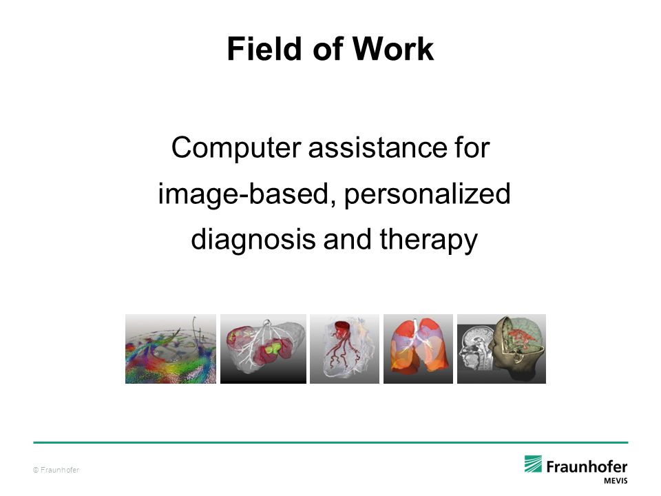 Field of Work Computer assistance for image-based, personalized