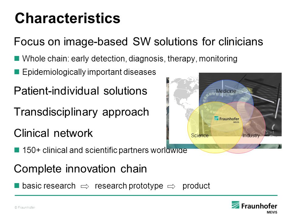 Characteristics Focus on image-based SW solutions for clinicians