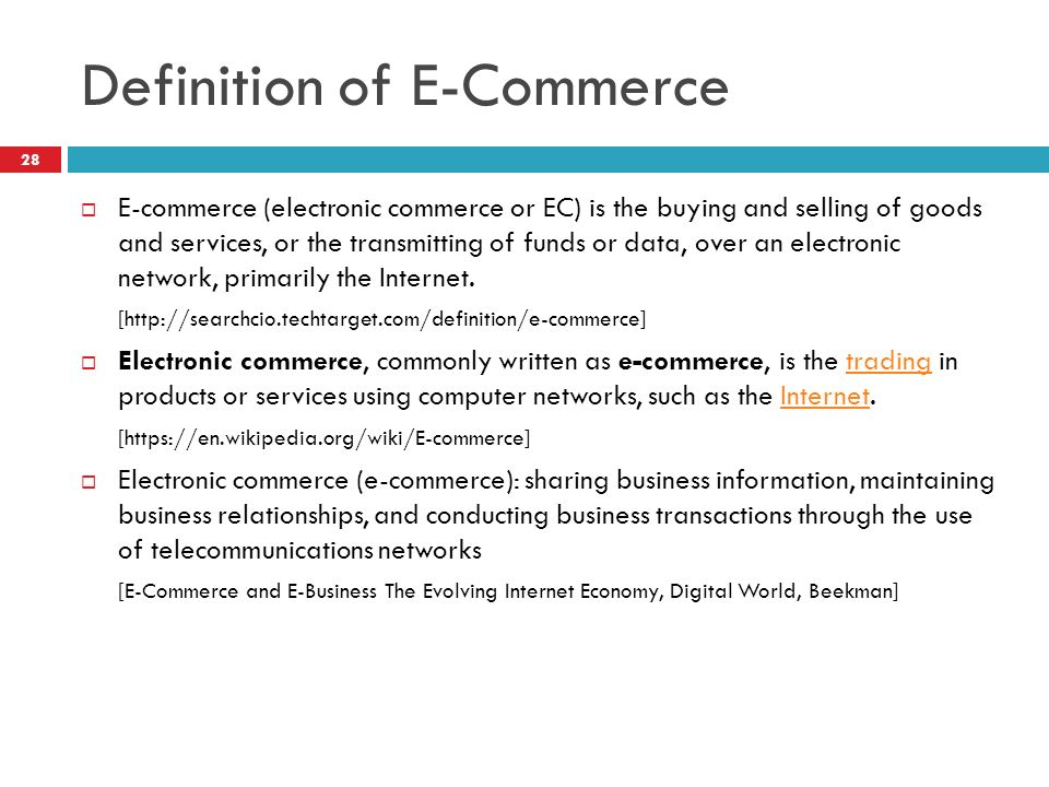 e commerce electronic commerce and digital information Digital commerce (d-commerce) is a type of e-commerce used by an organization that delivers and sells products online d-commerce is used by companies that sell news, subscriptions, documents or any form of electronic content, and the digital commerce company collects payments, handles customer refunds and billing and manages other accounting functions for online publisher clients.