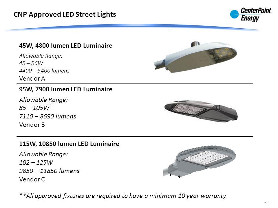 Centerpoint Energy Street Light Luminaire Replacement