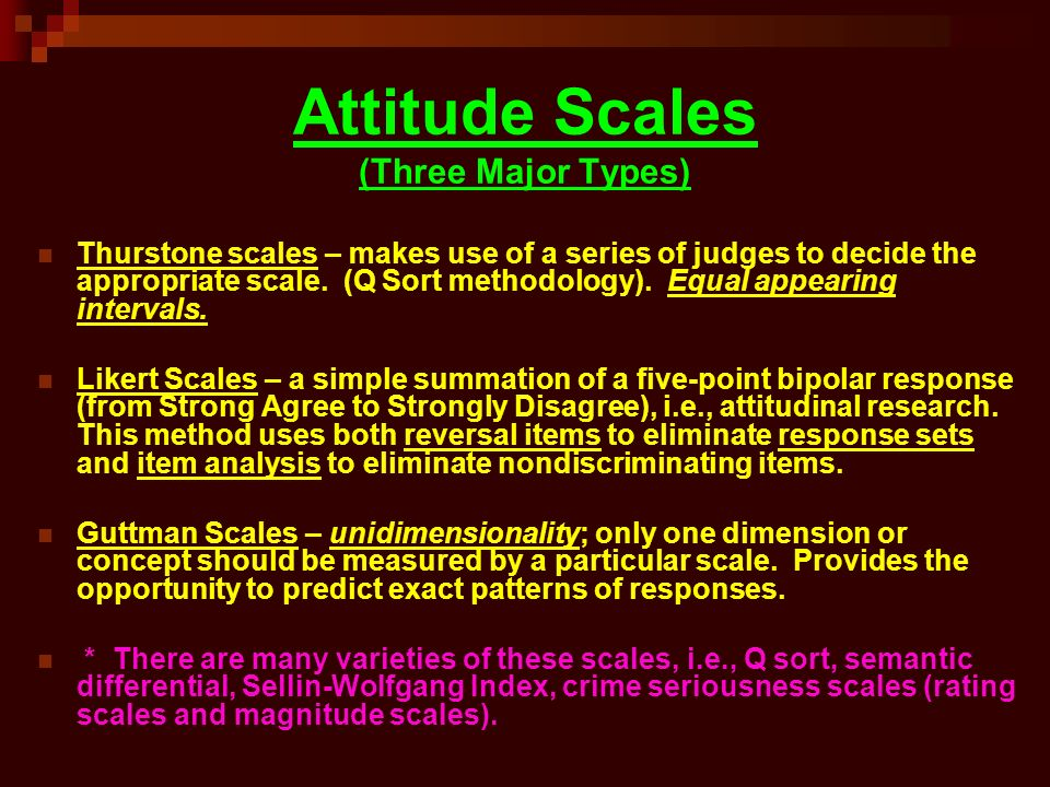 types of attitude scales