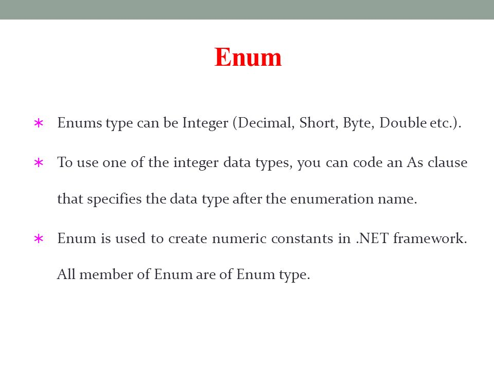Enumeration  - ppt download