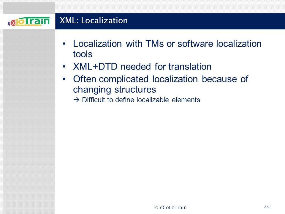 Localization with TMs or software localization tools