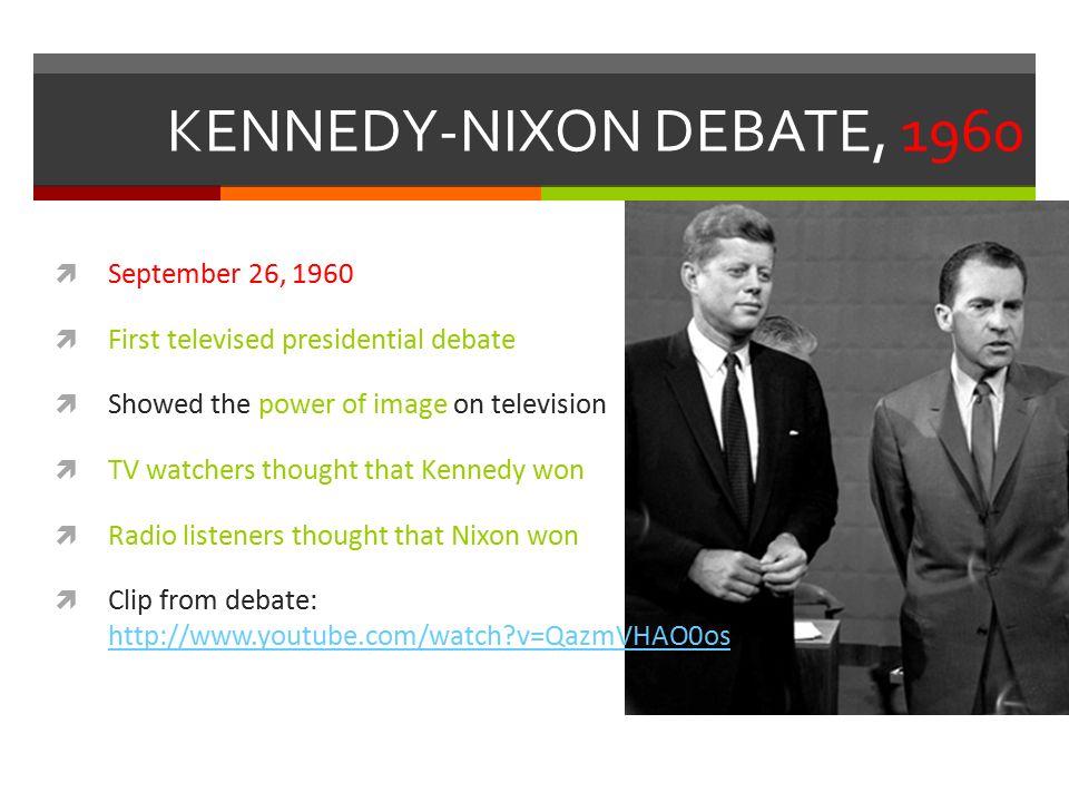 kennedy and nixon debate