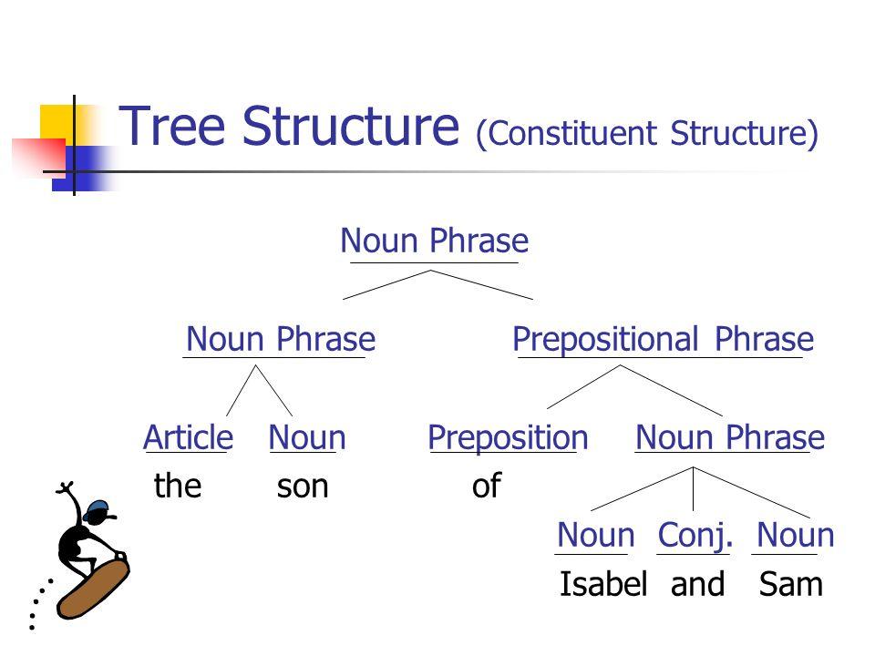 18 tree structure (constituent structure) noun phrase