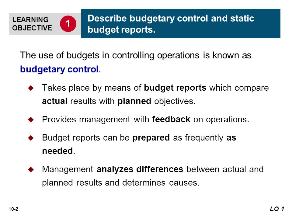 budgets and budgetory control essay Budgetary control makes use of budgets for planning and controlling all aspects of producing and/ or selling products or services budgetary control attempts to show the plans in financial terms budgetary control is the planning in advance of the various functions of a business so that the.