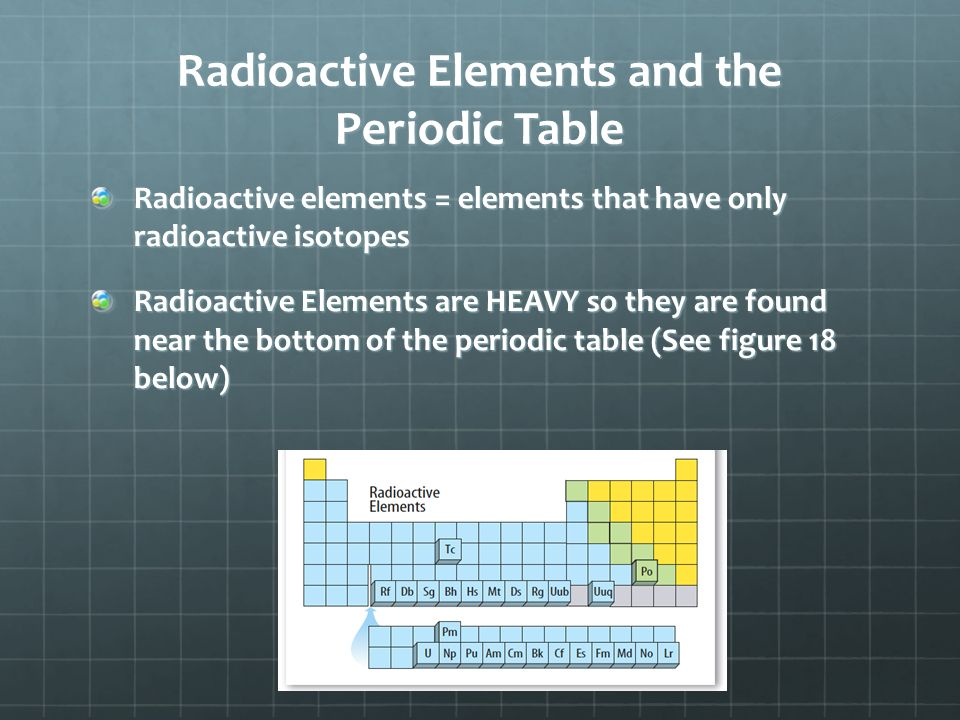 Isotopes and radioactivity ppt download radioactive elements and the periodic table urtaz Gallery