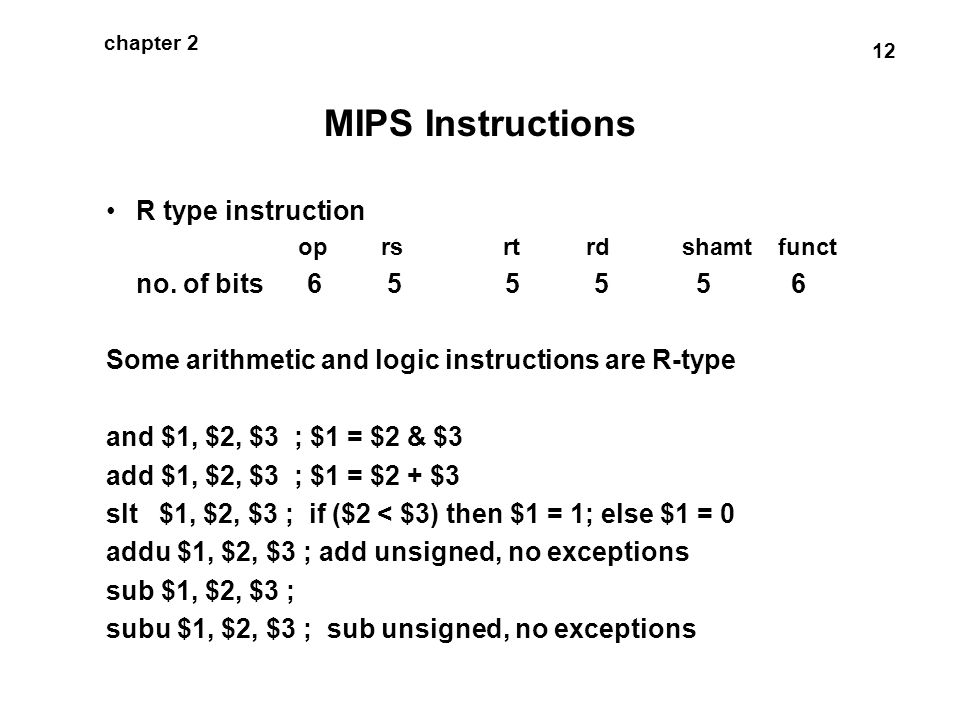 Mips Instructions Instructions Language Of The Machine Ppt Video
