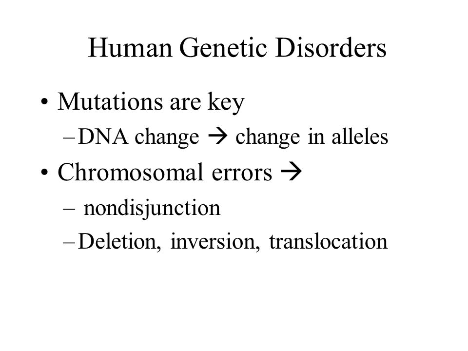 Human Genetic Disorders Ppt Video Online Download