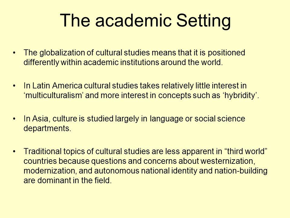 cultural studies topics