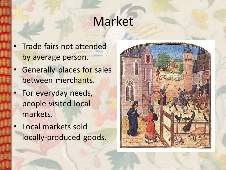Market Trade fairs not attended by average person.