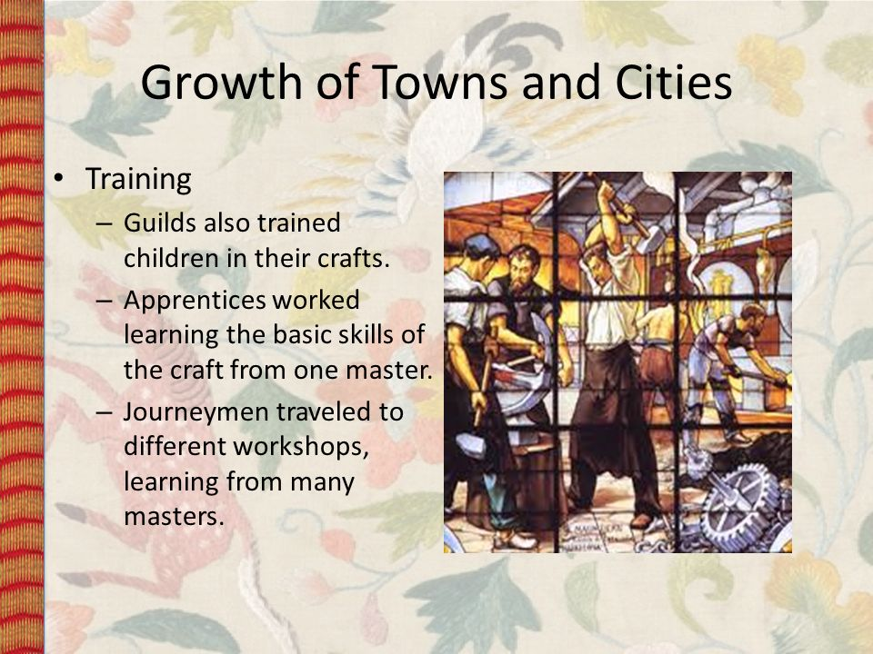 Growth of Towns and Cities