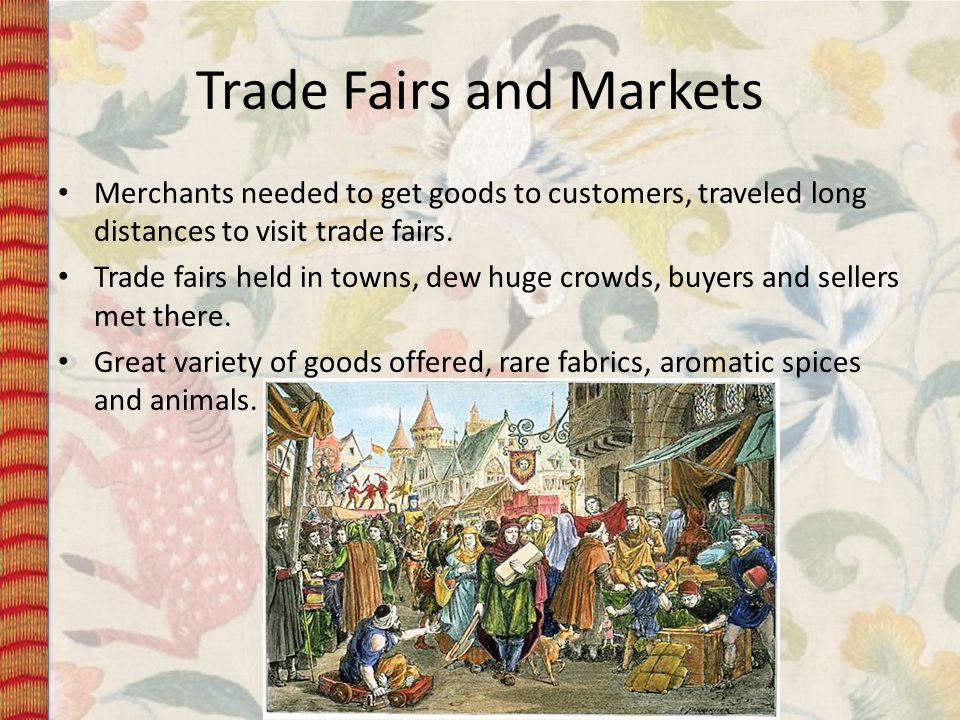 Trade Fairs and Markets