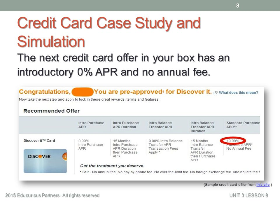 cost of credit 2015 educurious partners all rights reserved unit 3