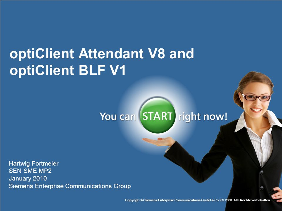optiClient Attendant V8 and optiClient BLF V1