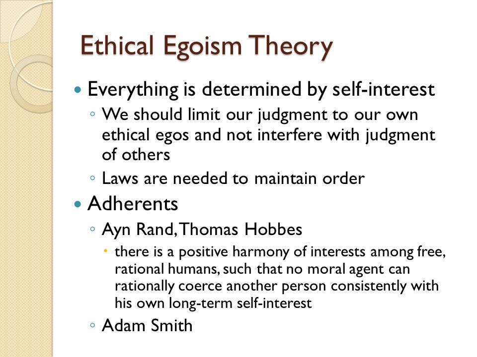 ethical egoism examples in business