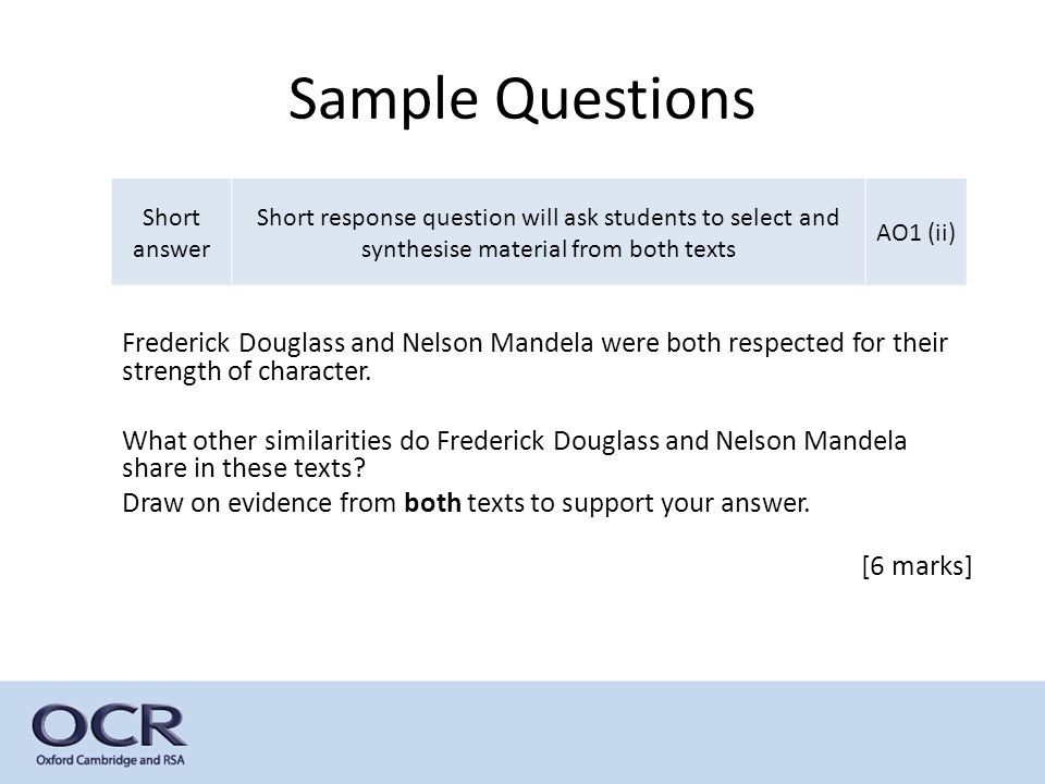Gcse English Language And Literature  Ppt Download Sample Questions Short Answer Short Response Question Will Ask Students To  Select And Synthesise Material Othello Essay Thesis also Thesis Statements For Essays  Book Report Writing Service