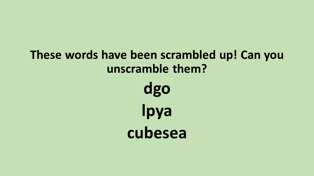 words that have these letters st s key stage one evening ppt 25726 | These words have been scrambled up%21 Can you unscramble them