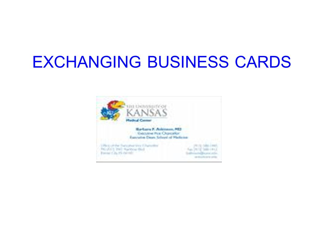 Buisness ettiquttes ppt download 13 exchanging business cards reheart Choice Image