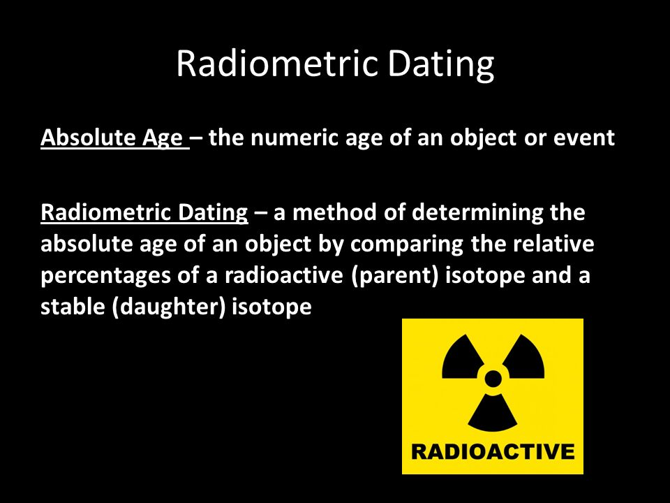 Absolute age dating label
